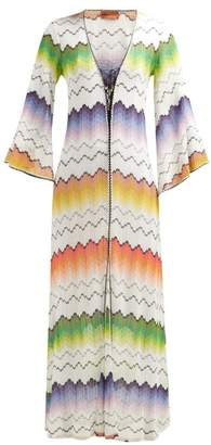 Missoni Mare - Zigzag Crochet Knit Kaftan - Womens - White Multi