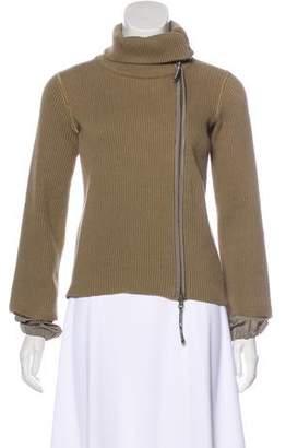 Giorgio Armani Zip-Up Knit Cardigan