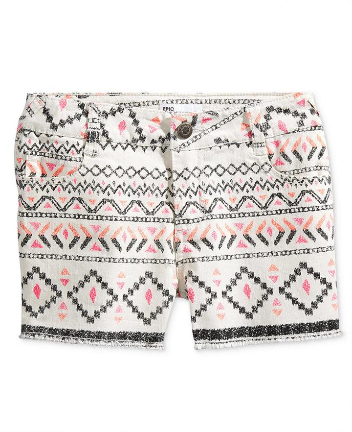 Epic Threads Geometric-Print Shorts, Big Girls (7-16), Created for Macy's