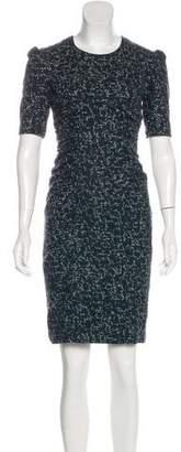Burberry Virgin Wool-Blend Printed Dress