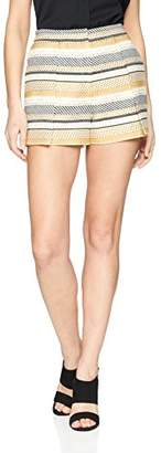 BCBGMAXAZRIA Women's Jane Overlap Jacquard High Waisted Short