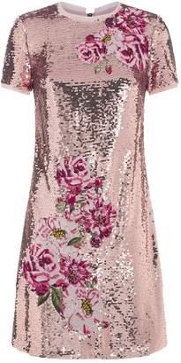 Ted Baker Marrta Embroidered Sequin Dress