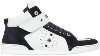 Jimmy Choo Lewis High Top Leather & Suede Sneakers