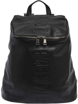 Bikkembergs Army Embossed Faux Leather Backpack
