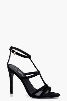 boohoo Brooke Caged Strappy Heels