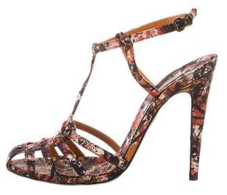Bottega Veneta Printed Ankle Strap Pumps