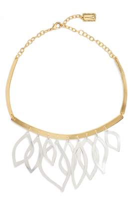 Karine Sultan Two-Tone Frontal Necklace