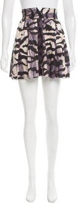 Alice by Temperley Brushstroke Printed Pleated Skirt $70 thestylecure.com