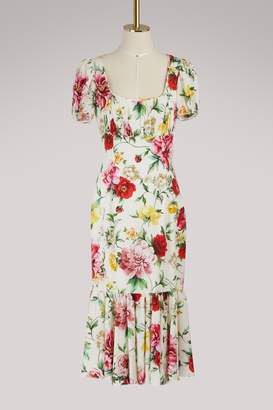 Dolce & Gabbana Flowers silk dress