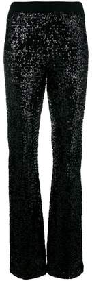 P.A.R.O.S.H. sequin bootcut trousers