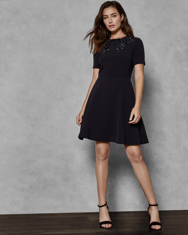 Kaite Embellished Skater Dress