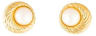Nina Ricci Faux Pearl Clip-On Earrings