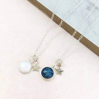 7e686aca9b6298 Eclectic Eccentricity Personalised Sterling Silver Opal Necklace
