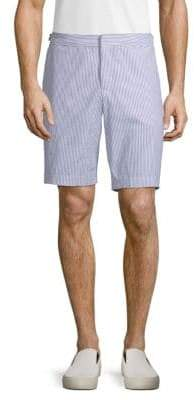 Orlebar Brown Dane II Striped Cotton Seersucker Shorts