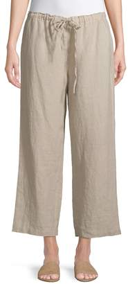 Eileen Fisher Wide-Leg Linen Pants