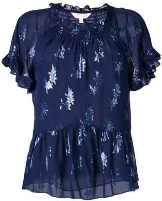 Rebecca Taylor metallic star blouse