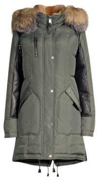 Nicole Benisti Chelsea Rabbit& Fox Fur Down Military Parka