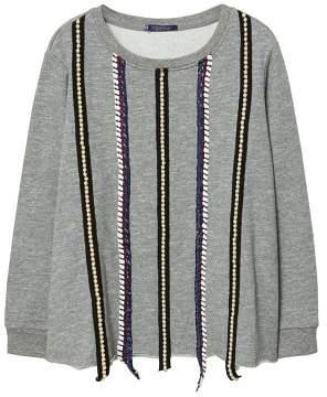 Violeta BY MANGO Pearl appliquAs sweatshirt