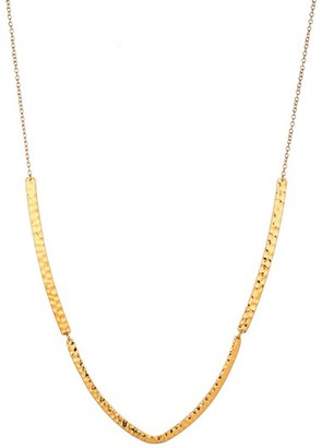 Women's Gorjana Amanda Hammered Pendant Necklace $97 thestylecure.com
