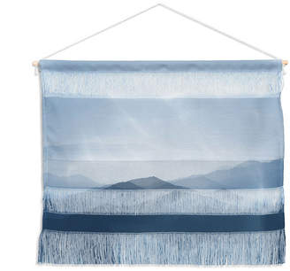 "Deny Designs Ingrid Beddoes Hazy Morning Blues Wall Hanging Landscape, 22""x16"""