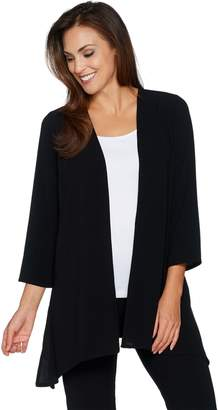 Linea By Louis Dell'olio by Louis Dell'Olio Gauze Crepe Asymmetrical Cardigan