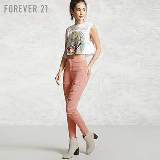 Forever 21 (フォーエバー 21) - ダメージカットオフスキニージーンズ