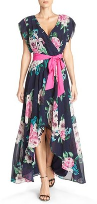 Women's Eliza J Floral Print Chiffon High/low Dress $158 thestylecure.com