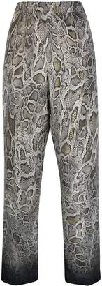 Cambio snakeskin print trousers