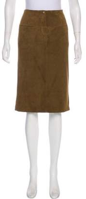 Rebecca Minkoff Knee-Length Suede Skirt