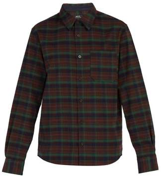 A.P.C. Timber Check Flannel Shirt - Mens - Brown