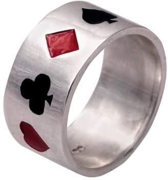 Edge Only - Poker Ring Enamelled Silver