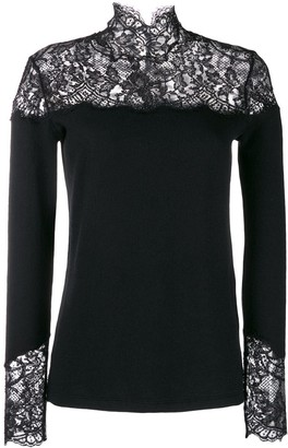 Ermanno Scervino lace inlay sweater