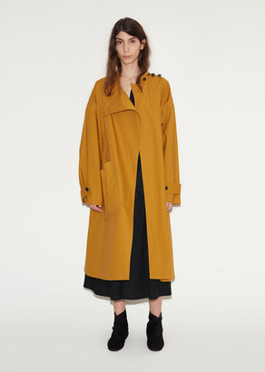 Lemaire Cotton Highneck Overcoat $1,245 thestylecure.com