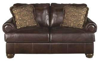 Co Darby Home Bannister Leather Loveseat