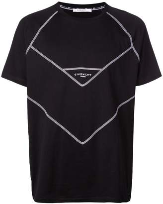 Givenchy contrast stitch logo print T-shirt