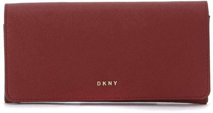 DKNYDkny Scarlet Red Leather Wallet