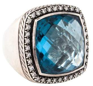 David Yurman Blue Topaz & Diamond Albion Ring
