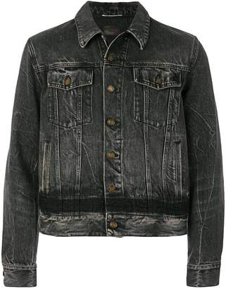 Saint Laurent distressed cropped denim jacket