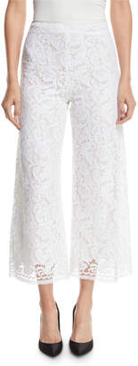 ADAM by Adam Lippes Corded Lace Cropped Flare-Leg Pants w/ Pockets