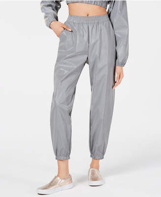 Waisted Reflective Cropped Jogger Pants