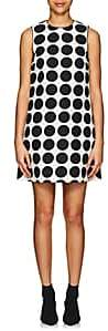 Lisa Perry Women's Dot-Print Cotton A-Line Dress-Wht.&blk.