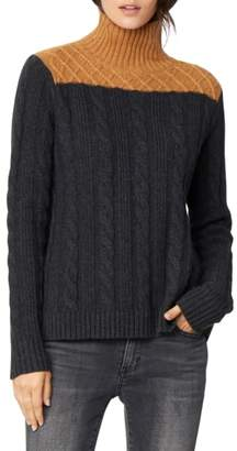 Habitual Devin Colorblock Cable Knit Turtleneck Sweater