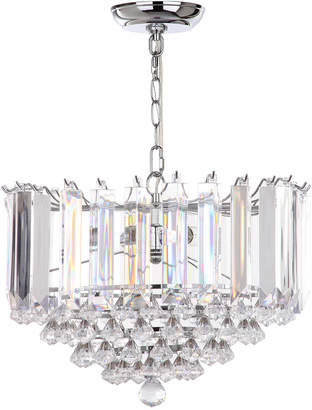 Safavieh Hampton 2 Light Chrome 16.5In Glass Pendant