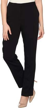 Susan Graver Regular Milano Knit Zip-Front Slim-Leg Pants