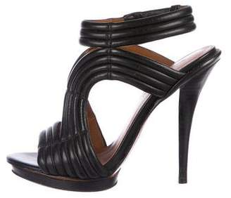 Elizabeth and James Ribbed Leather Sandals