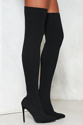 Nasty Gal Hidden Talent Over-the-Knee Boot
