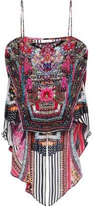 Camilla Tales Of Batik Layered Crystal-Embellished Printed Silk Blouse