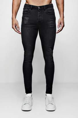 boohoo Super Skinny Jeans With Light Distressing