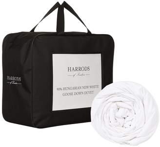 Harrods 90% Hungarian New White Goose Down Duvet 4.5 Tog