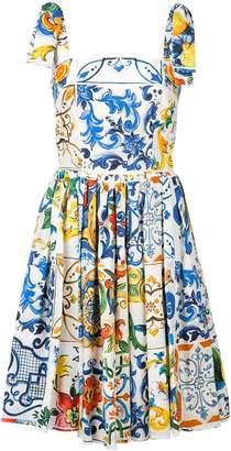 Dolce & Gabbana Majolica print sundress